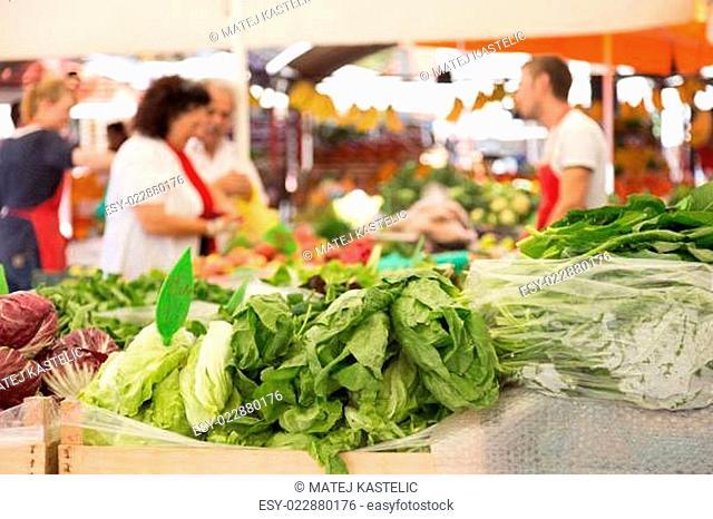 Vegetable market stall