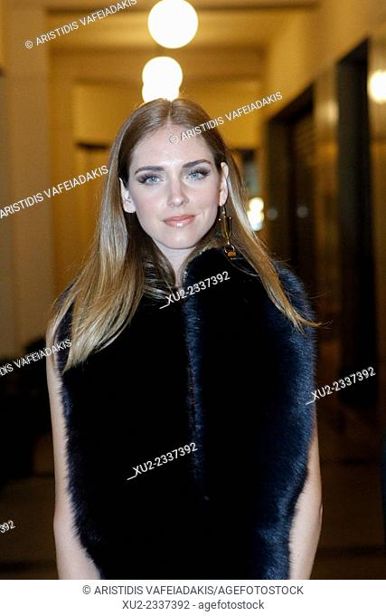 "CHIARA FERRAGNI arrive for the party of """"Madame Figaro""""magazine in Athens Greece. Chiara Ferragni is a widely-followed blogger and fashion designer who has..."