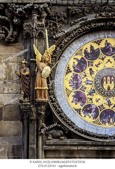 Astronomical Clock, Old Town Hall, Prague, Bohemia Region, Czech Republic