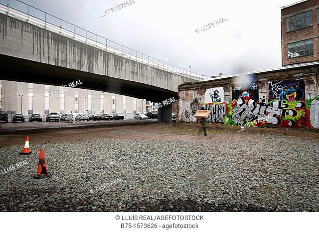 East London Line, London, England, UK, City, graffiti, public transport, overground