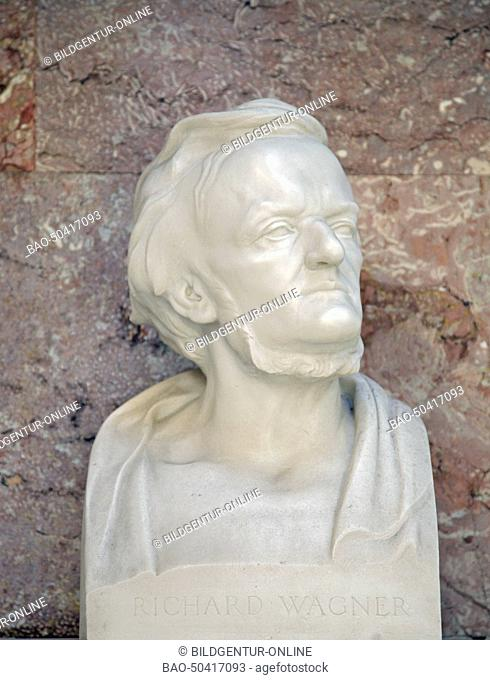 bust of Richard Wagner, german composer