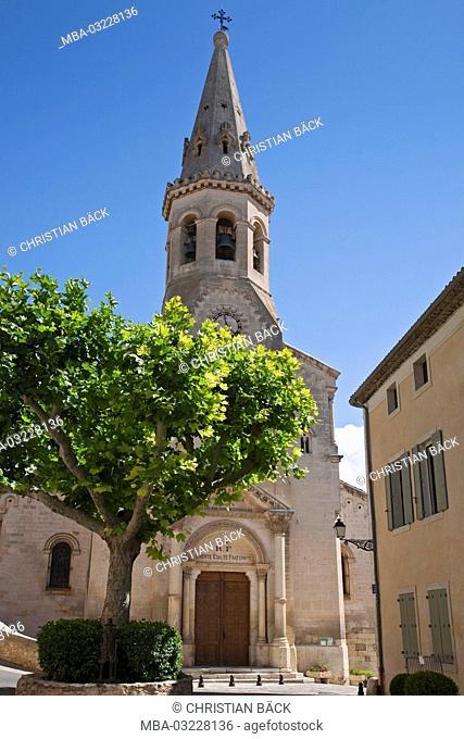 Church of Saint-Saturnin-lès-Apt, Provence, Provence-Alpes-Cote d'Azur, France