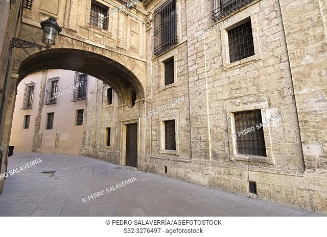 Street next to Cathedral Of Valencia, Spain