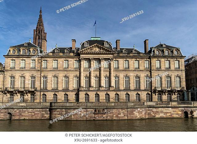 Palais Rohan and River Ill in Strasbourg, Alsace, France