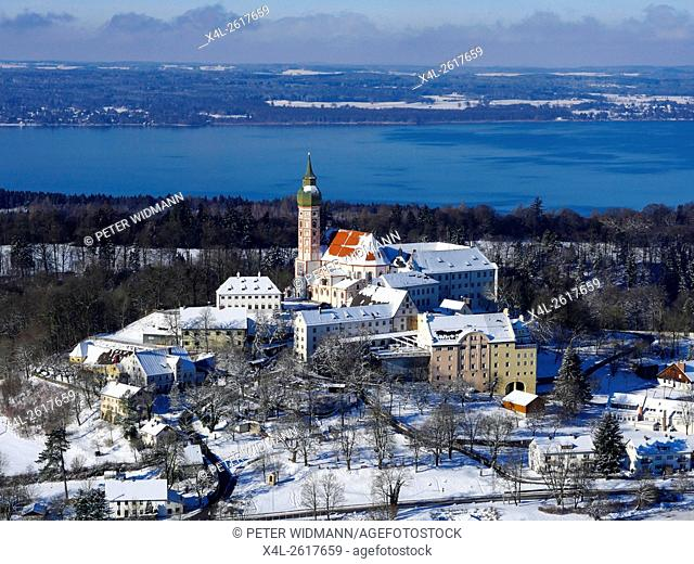 Germany, Bavaria, Upper Bavaria, Andechs Monastery in the Winter