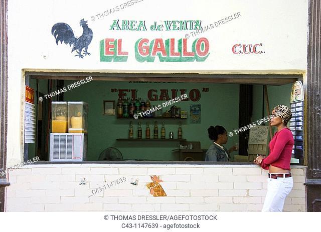 Cuba - Modest shop and bar in Habana Vieja, the Old Town of Cuba's capital Havana