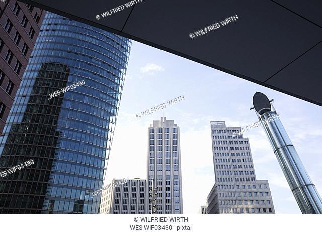 Germany, Berlin, Potsdamer Platz, Bahntower, Ritz Carlton Hotel and Beisheim Center