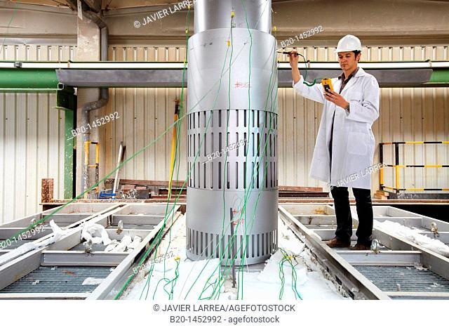 Horizontal fire resistance test furnace, Technology Research Center, Tecnalia Construction, CIDEMCO-Tecnalia Research & Innovation