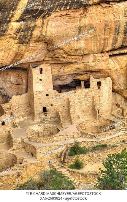 Anasazi Ruins, Cliff Palace, Mesa Verde National Park, UNESCO World Heritage Site, 600 A.D. - 1,300 A.D., Colorado, USA