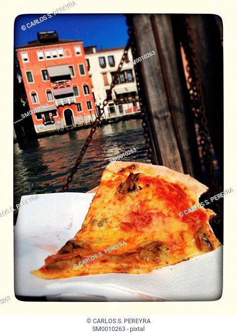 Pizza at Venice, Italy