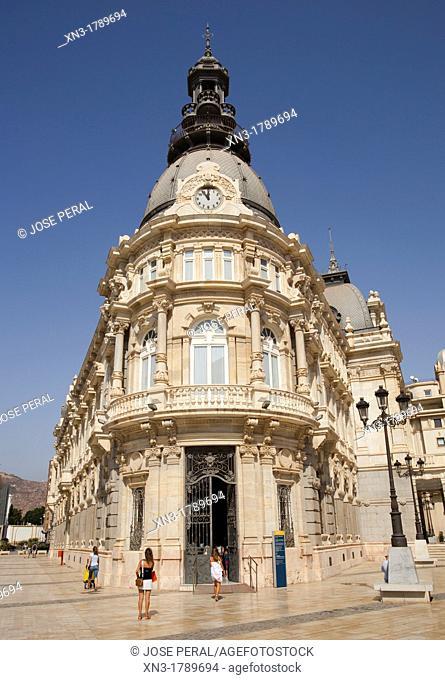 Tourist office in the Town hall, Cartagena, Costa Calida, Murcia, Spain