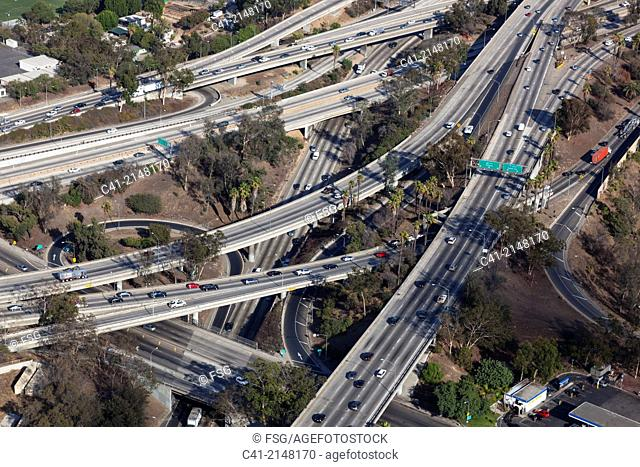 Highways. Los Angeles. California, USA