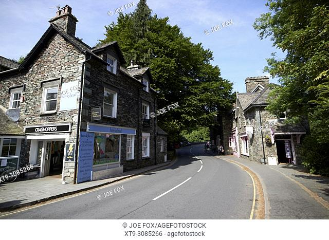 stock lane through grasmere lake district cumbria england uk