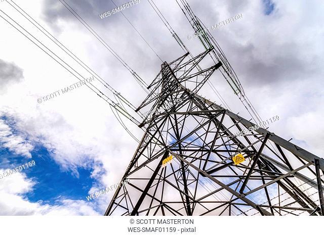 United KIngdom, Scotland, Perthshire, electricity pylon