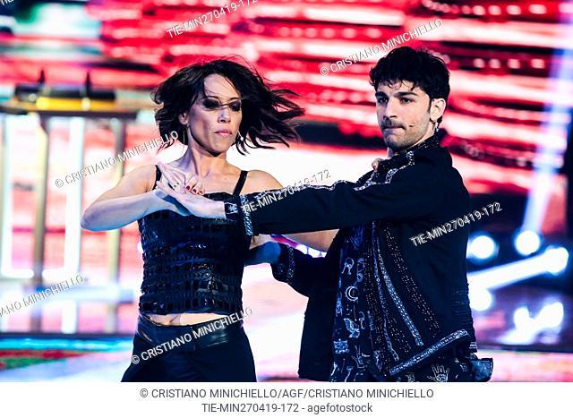 Nunzia De Girolamo during the performance at the tv show Ballando con le stelle (Dancing with the stars) Rome, ITALY-27-04-2019