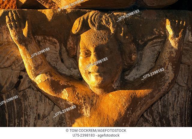 Child Jesus carving, Jesuit Mission of La Santísima Trinidad de Paraná ruins, Encarnacion, Paraguay
