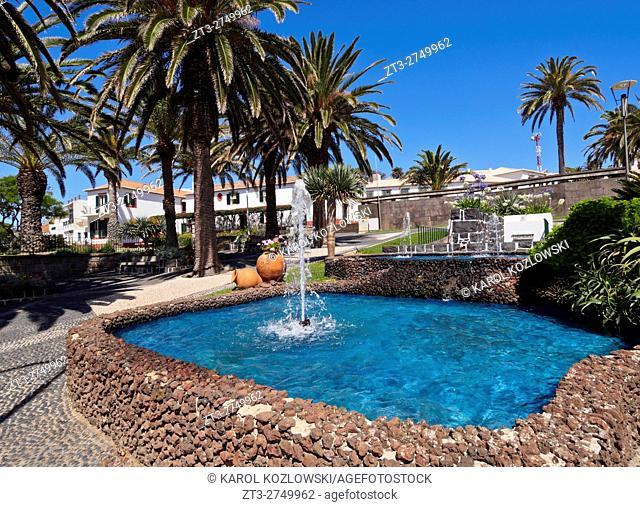 Portugal, Madeira Islands, Porto Santo, View of the Vila Baleira.