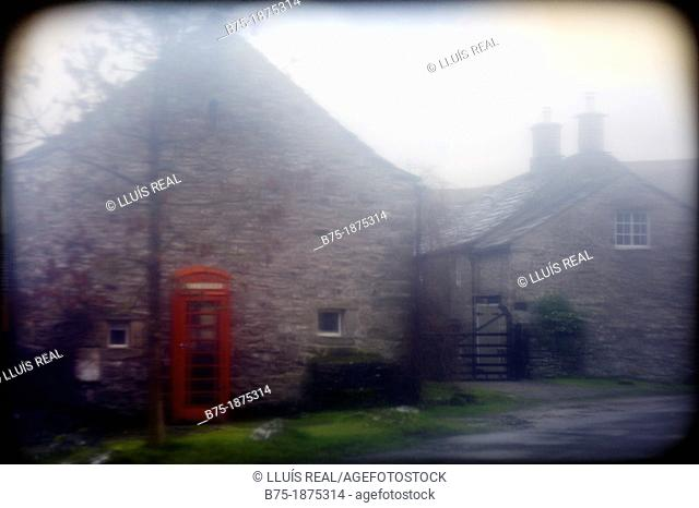 UK, North Yorkshire, Yorkshire Dales, Conistone, village
