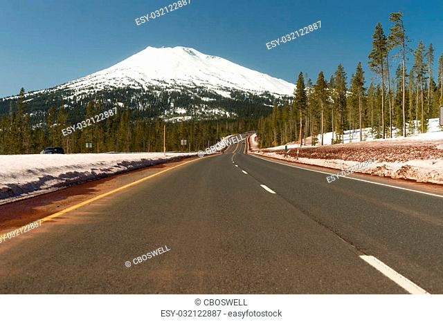 The road to Mt Bachelor literally