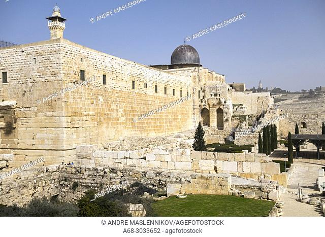 Al-Aqsa is the name of the silver-domed mosque inside a 35-acre compound referred to as al-Haram al-Sharif, or the Noble Sanctuary, by Muslims