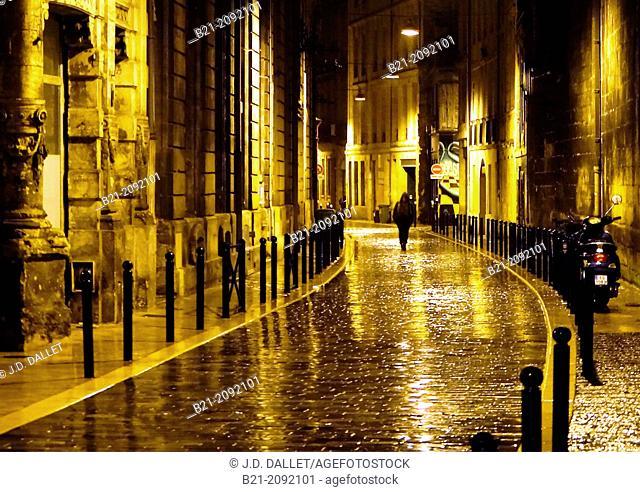 Rue de Guyenne at Bordeaux, Gironde, Aquitaine, France