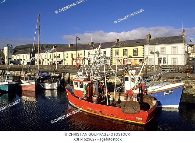 Carnlough harbour, County Antrim, Northern Ireland, United Kingdom, Western Europe