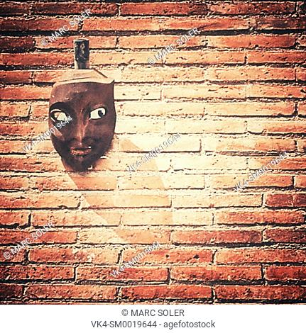 Mask on a wall