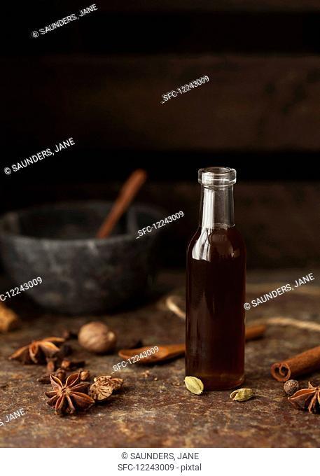 Masala chai syrup with star anise, cardamom and cinnamon