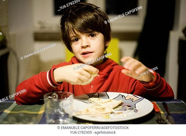 7 year old eat flatbread
