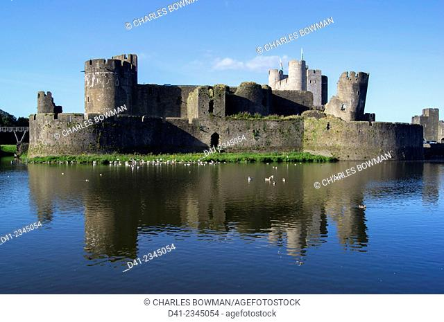 UK, Wales, Caerphilly Castle
