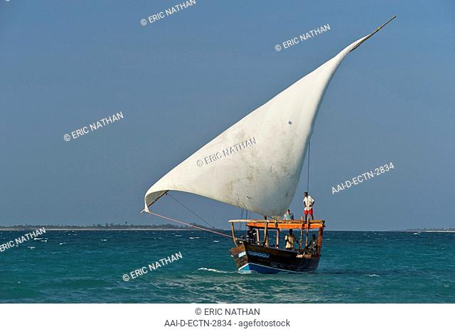 Dhow sailing in the Quirimbas archipelago off the coast of northern Mozambique