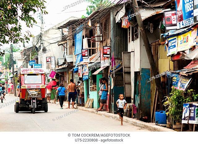 Burgos street scene, CBD, Cagayan de Oro, Misamis Oriental, Mindanao, Philippines