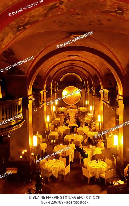 Interior of the historic Kornhauskeller restaurant, Bern, Canton Bern, Switzerland