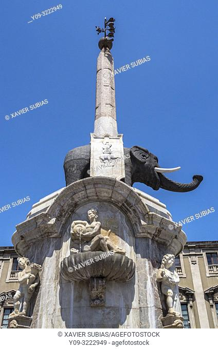 U Liotru, Piazza del Duomo, Catania, Sicily, Italy