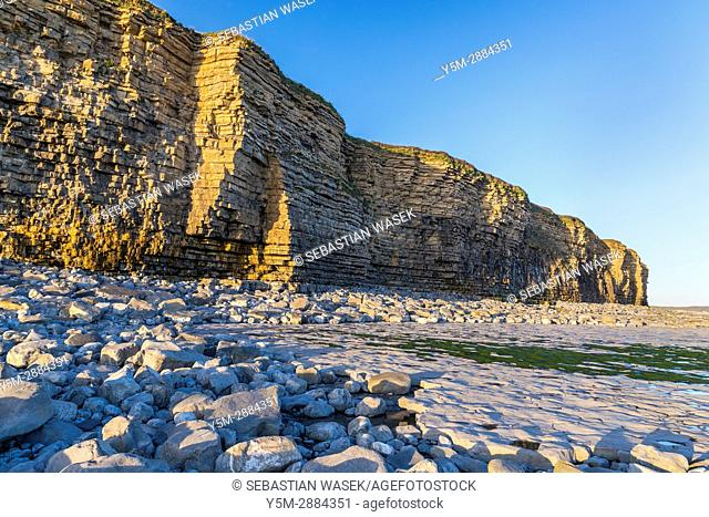 Nash Point, Monknash Coast of the Vale of Glamorgan, Wales, United Kingdom, Europe
