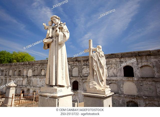 Statues at the cemetery La Reina, Cienfuegos, Cuba, West Indies, Central America