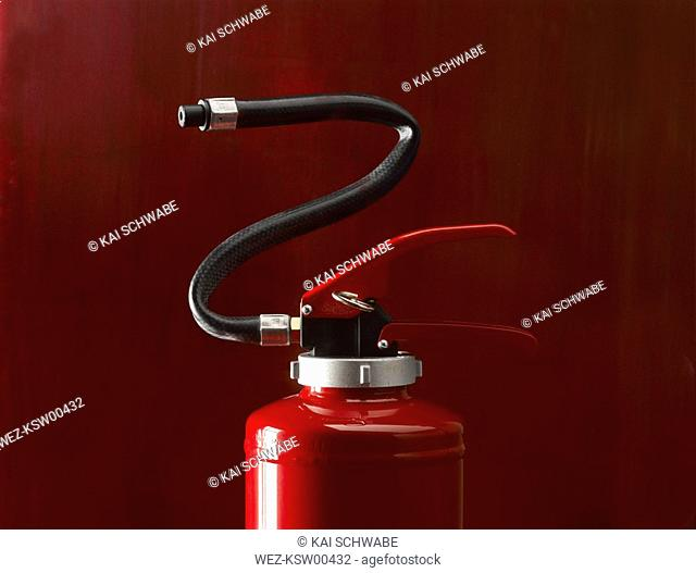 Fire extinguisher, close up
