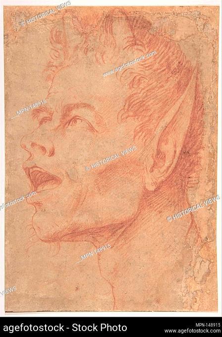Head of a Satyr Facing Left. Artist: Jusepe de Ribera (called Lo Spagnoletto) (Spanish, Jótiva 1591-1652 Naples); Date: ca