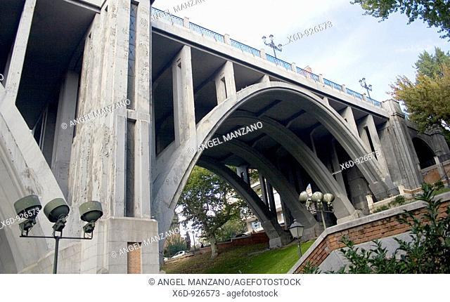 Segovia viaduct, Madrid, Spain