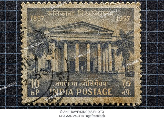Calcutta university, postage stamps, india, asia