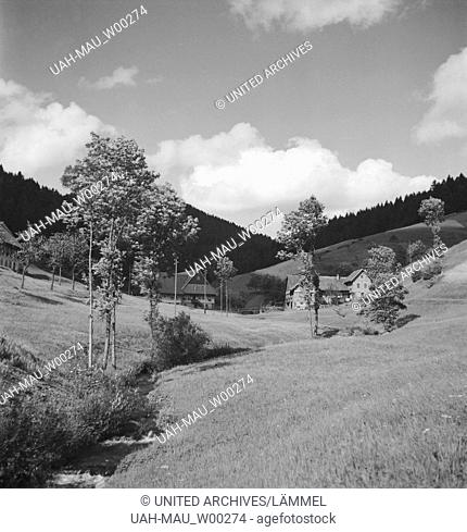 In und um den Luftkurort Bad Rippoldsau Schapbach im Schwarzwald, Deutschland 1930er Jahre. At the climatic spa Bad Rippoldsau Schapbach in the Black Forest...