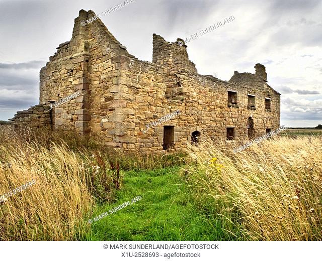 Low Chibburn Chapel Ruins near Widdrington Northumberland England