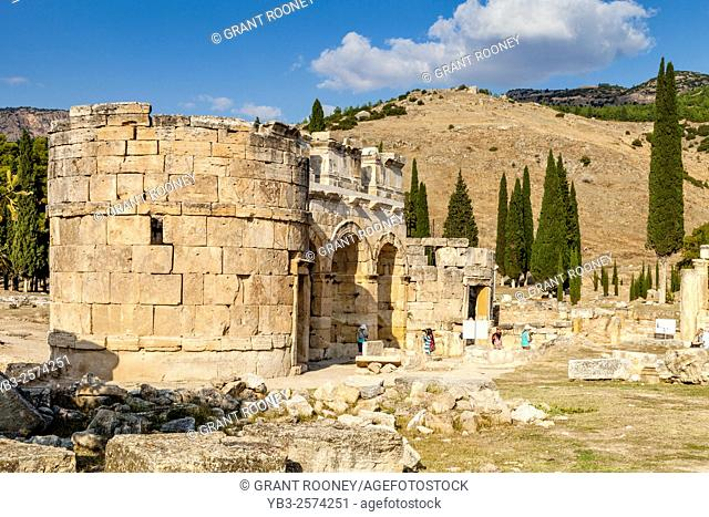 The Frontinus Gate, Hierapolis/Pamukkale, Denizli Provence, Turkey