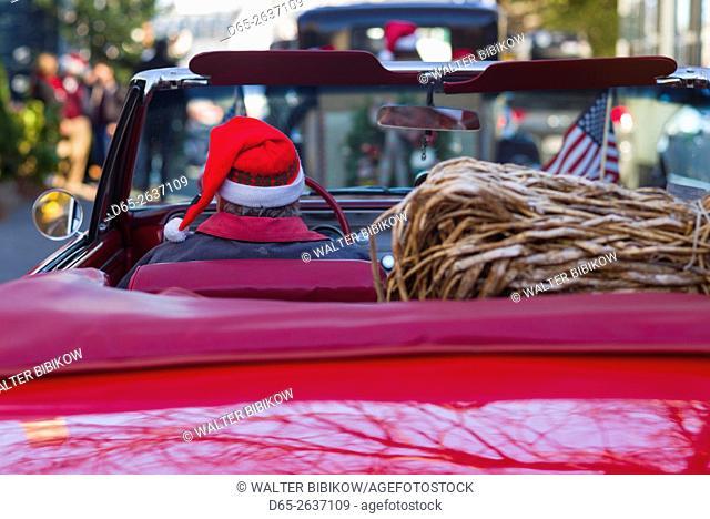 USA, Massachusetts, Marblehead, Christmas Parade,, detail