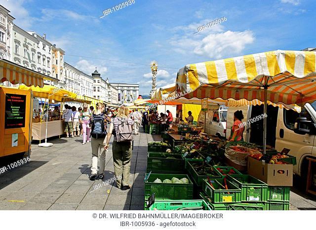 Hauptplatz, Main Square, Linz, Upper Austria, Europe