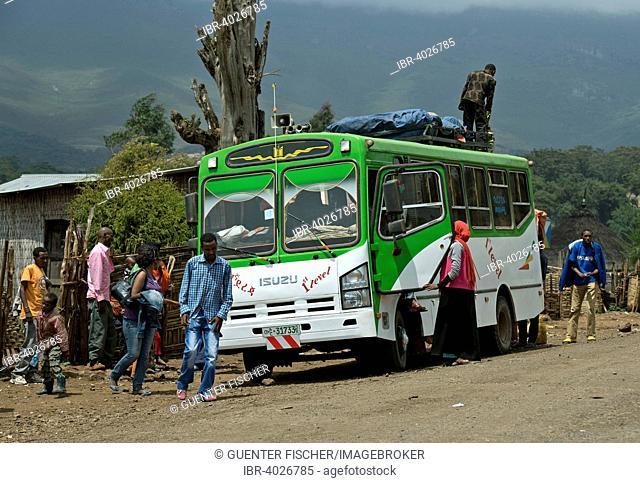 Bus stop, Rira village, Bale Mountains, Oromiya, Ethiopia
