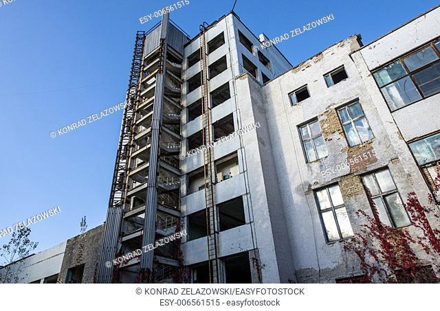 Jupiter Factory in Pripyat ghost town, Chernobyl Nuclear Power Plant Zone of Alienation, Ukraine