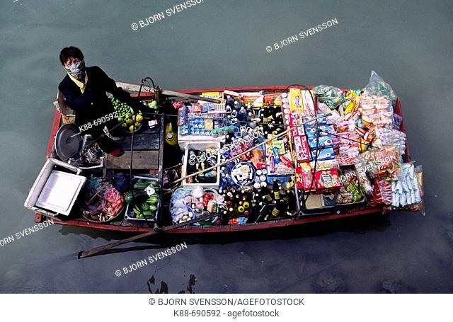 Floating minimart, Halong Bay, Vietnam