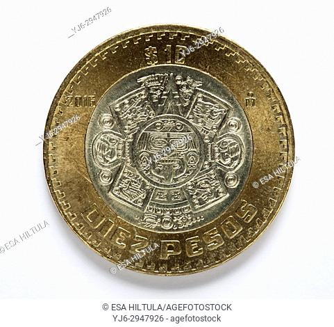 Mexican ten pesos coin