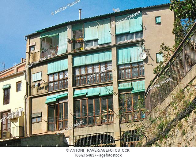 Houses of Old Manresa, Barcelona, Spain